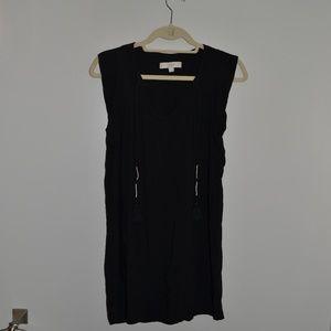 NWOT Black Loft Dress with Gold and Sliver Tassels